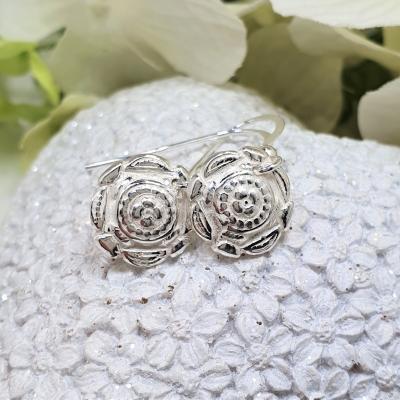 ethnic native jewellery earrings silver