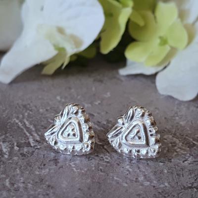 little heart earrings jewellery silver