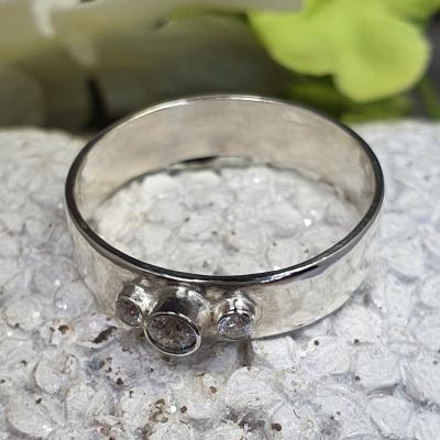 ethical diamond ring glass stones