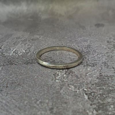 simple silver ring stacking stackable